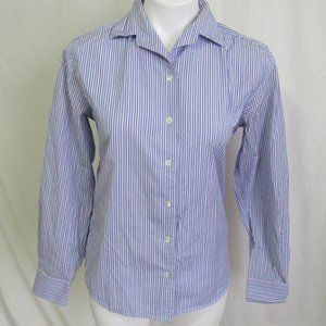 Faconnable Blue Pink Stripe Blouse Women's S